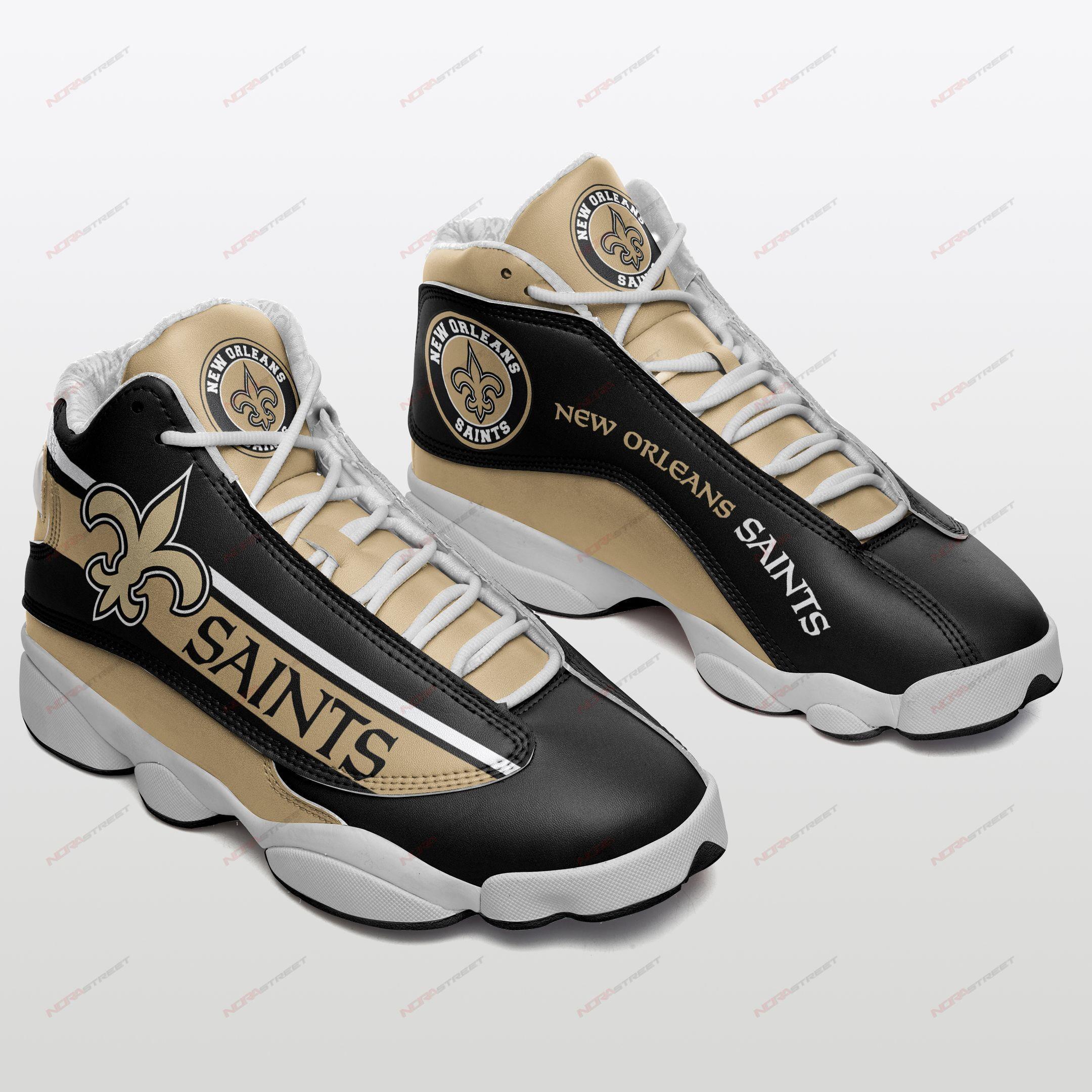 New Orleans Saints Air Jordan 13 Sneakers Sport Shoes Plus Size
