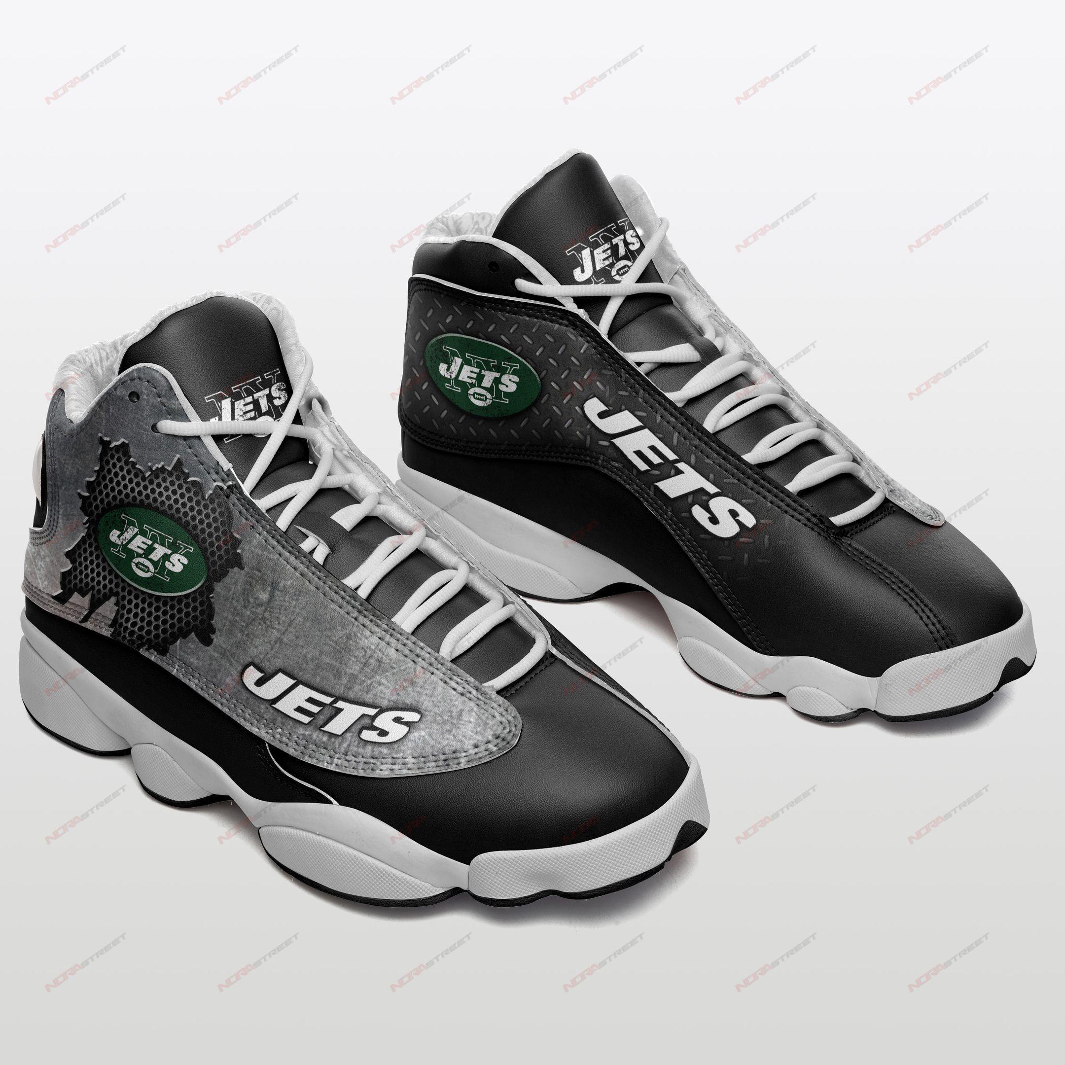 New York Jets Air Jordan 13 Sneakers Sport Shoes