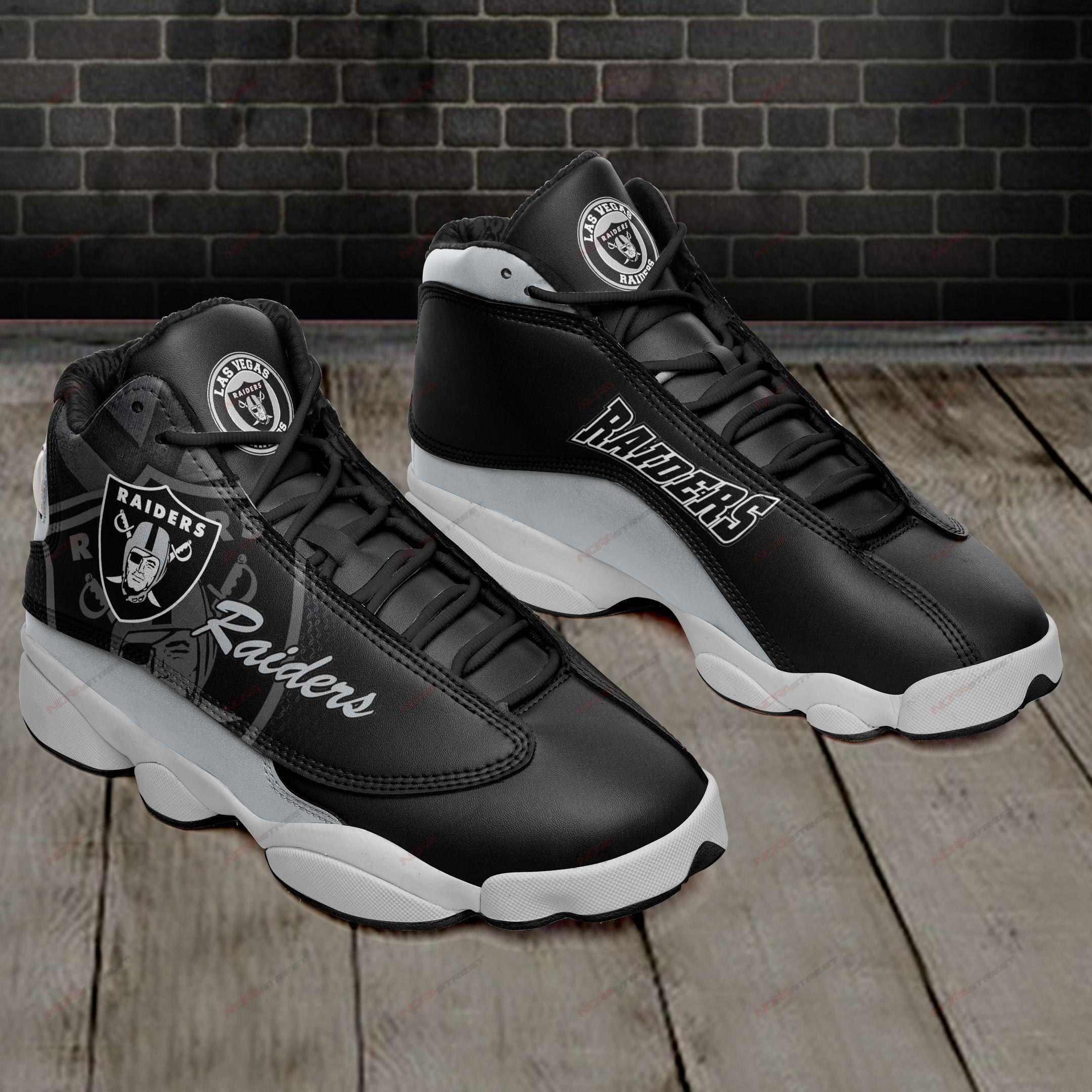 Oakland Raiders Air Jordan 13 Sneakers Sport Shoes Full Size