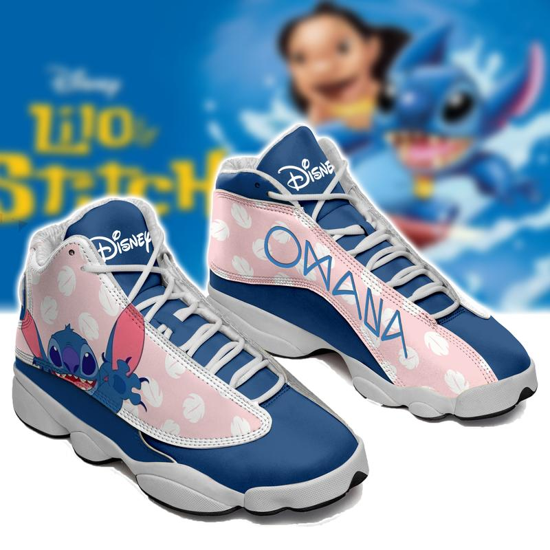 Ohana Lilo Stitch Form Air Jordan 13 Disney Sneakers Sport Shoes Full Size