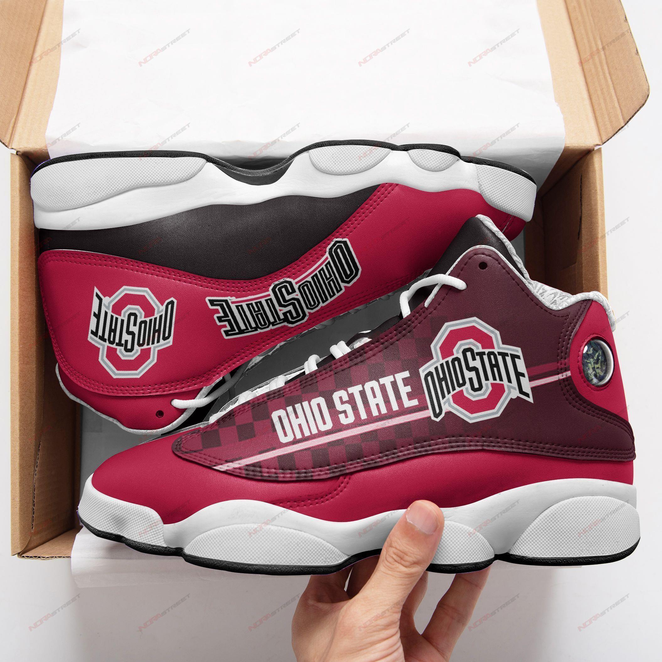 Ohio State Buckeyes Air Jordan 13 Sneakers Sport Shoes Plus Size