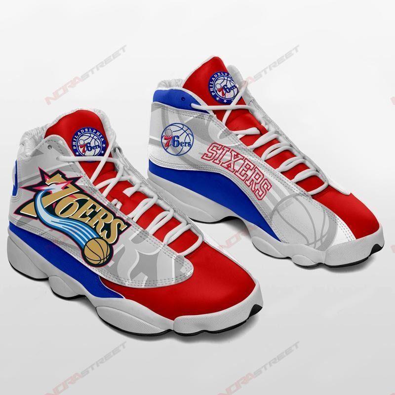 Philadelphia 76ers Air Jordan 13 Sneakers Sport Shoes