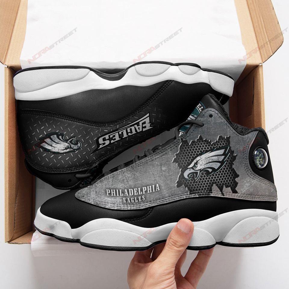 Philadelphia Eagles Air Jordan 13 Sneakers Sport Shoes Full Size