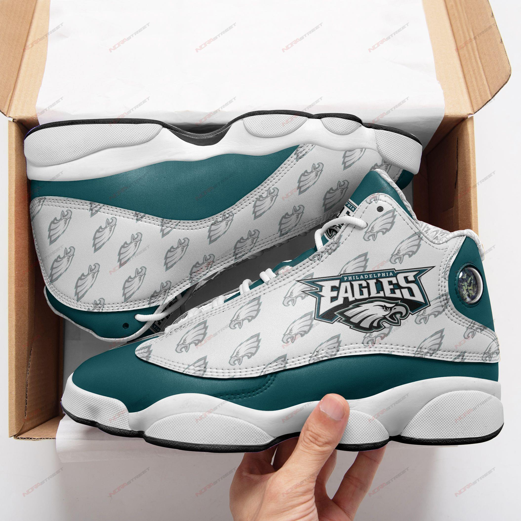 Philadelphia Eagles Air Jordan 13 Sneakers Sport Shoes Full Size