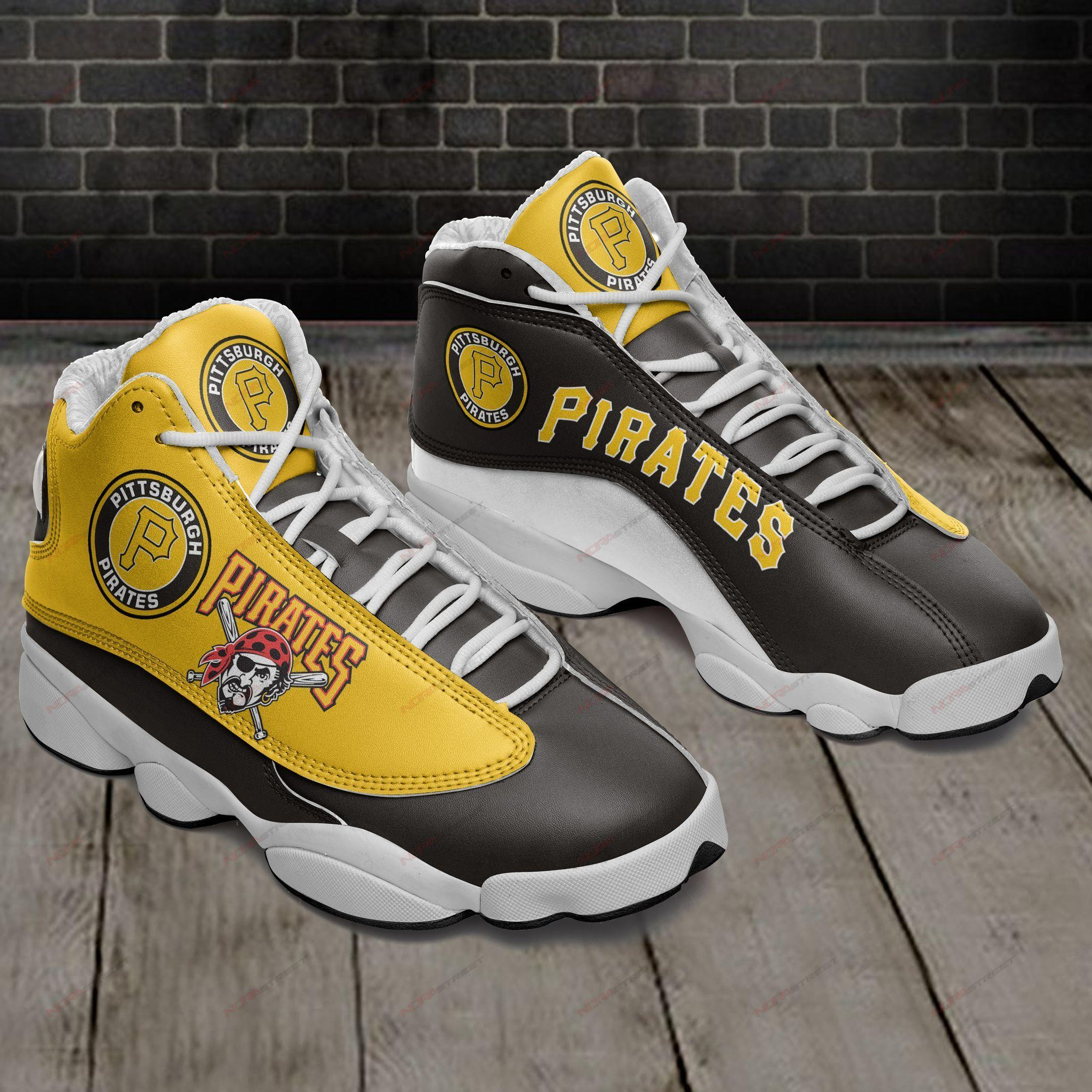 Pittsburgh Pirates Air Jordan 13 Sneakers Sport Shoes Plus Size