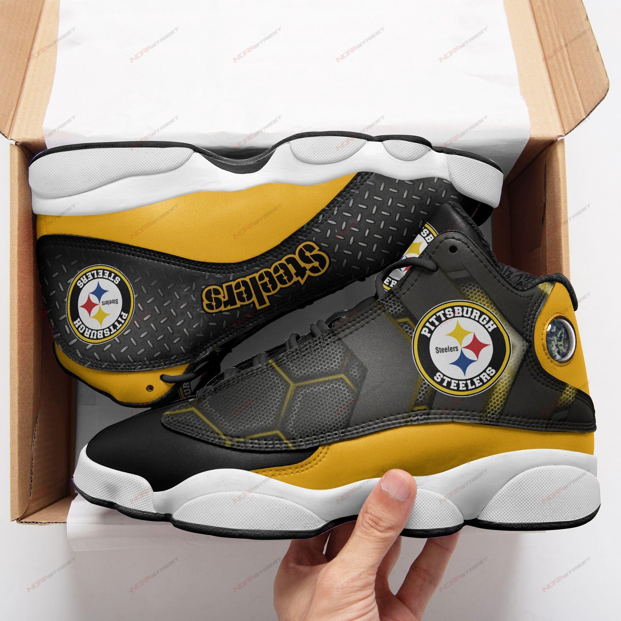 Pittsburgh Steelers Air Jordan 13 Sneakers Sport Shoes
