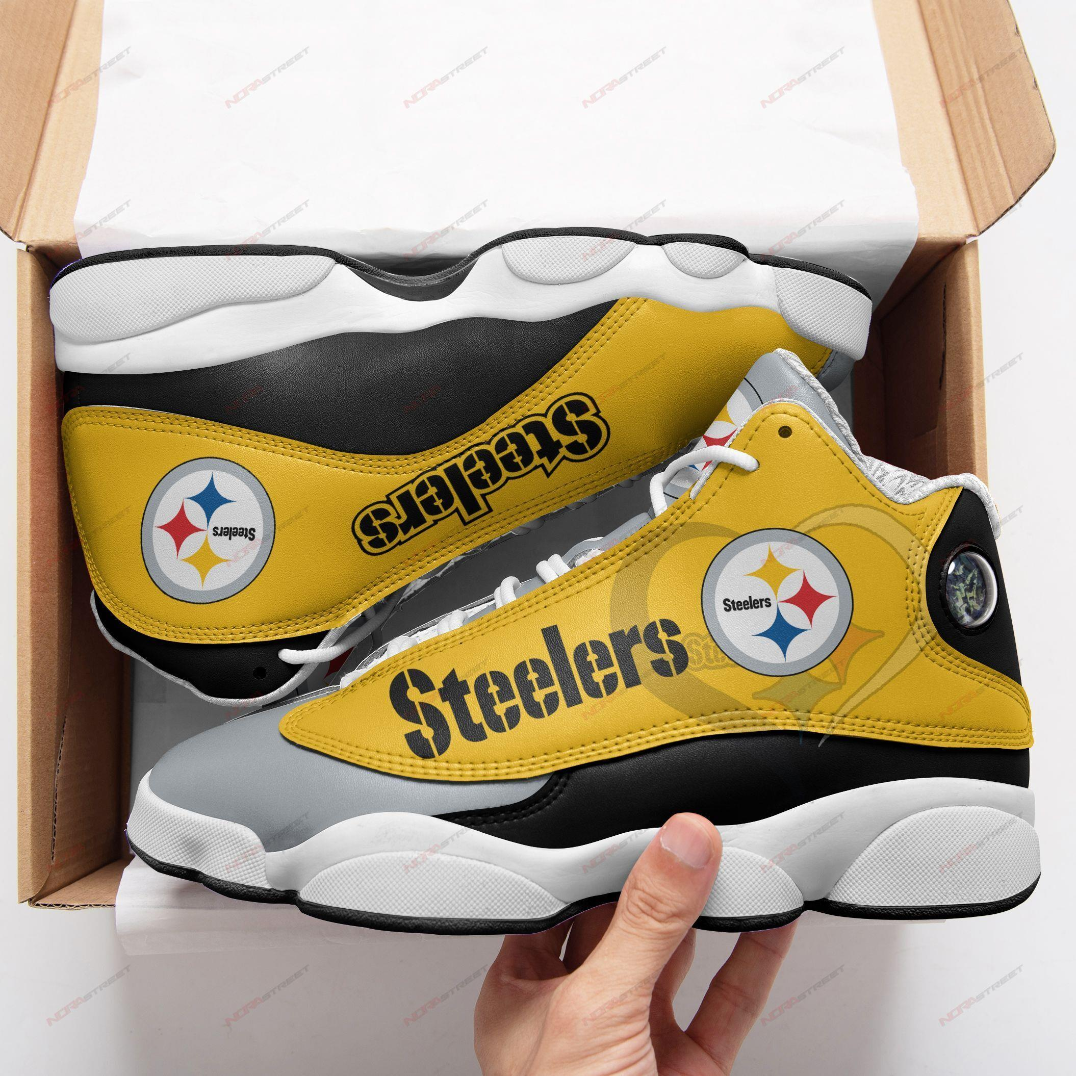 Pittsburgh Steelers Air Jordan 13 Sneakers Sport Shoes