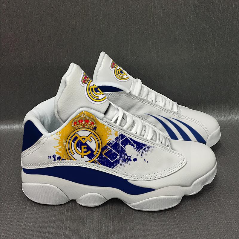 Real Madrid Football Team Form Air Jordan 13 Sneakers Sport Shoes Plus Size