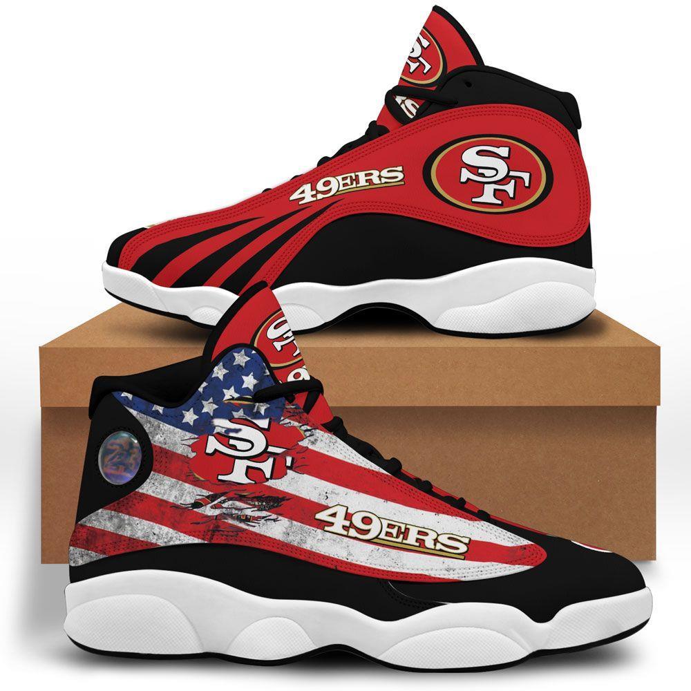 San Francisco 49ers Air Jordan 13 Custom Sneakers Sport Shoes Plus Size