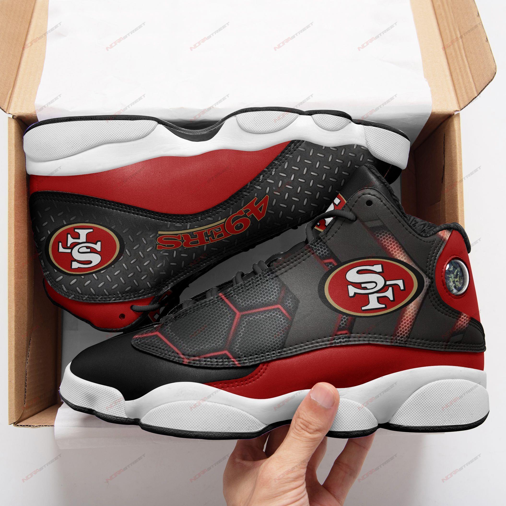 San Francisco 49ers Air Jordan 13 Sneakers Sport Shoes Plus Size