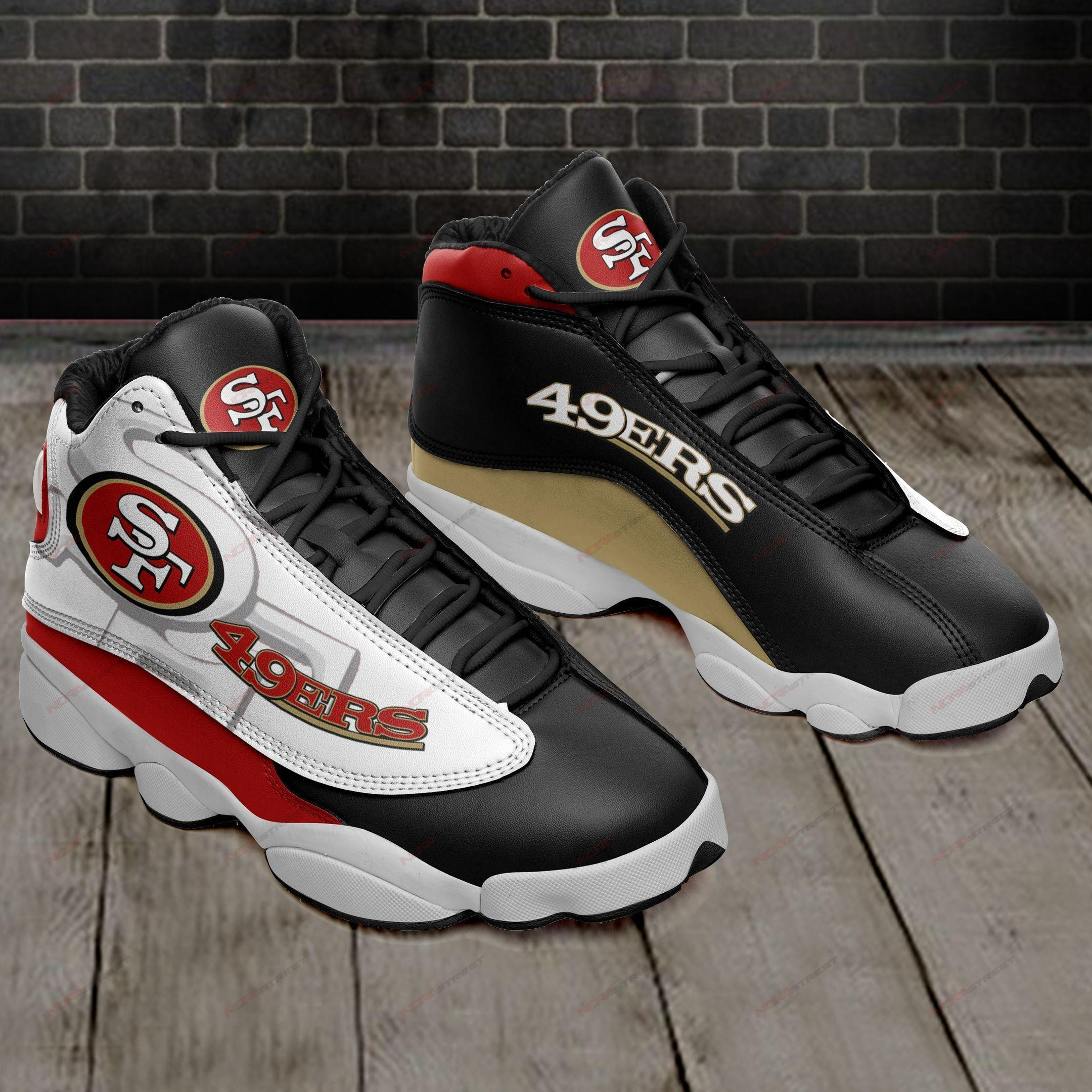 San Francisco 49ers Air Jordan 13 Sneakers Sport Shoes Full Size