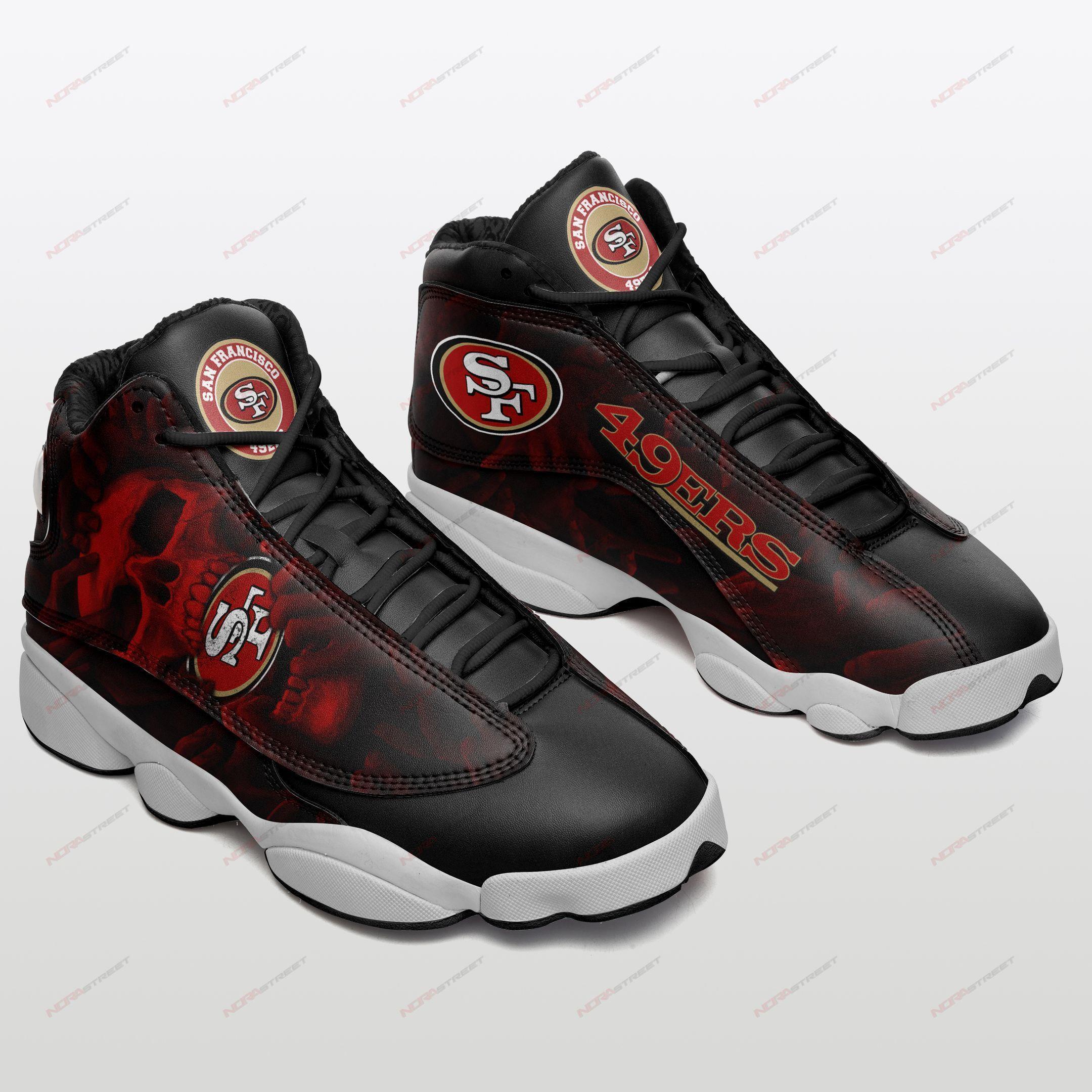 San Francisco 49ers Air Jordan 13 Sneakers Sport Shoes Full Size