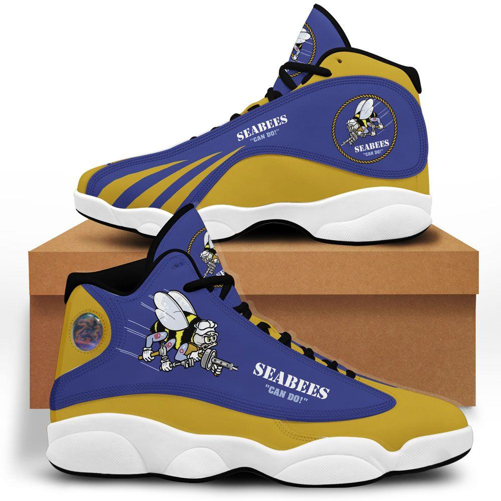 Seabees Air Jordan 13 Custom Sneakers Sport Shoes Full Size