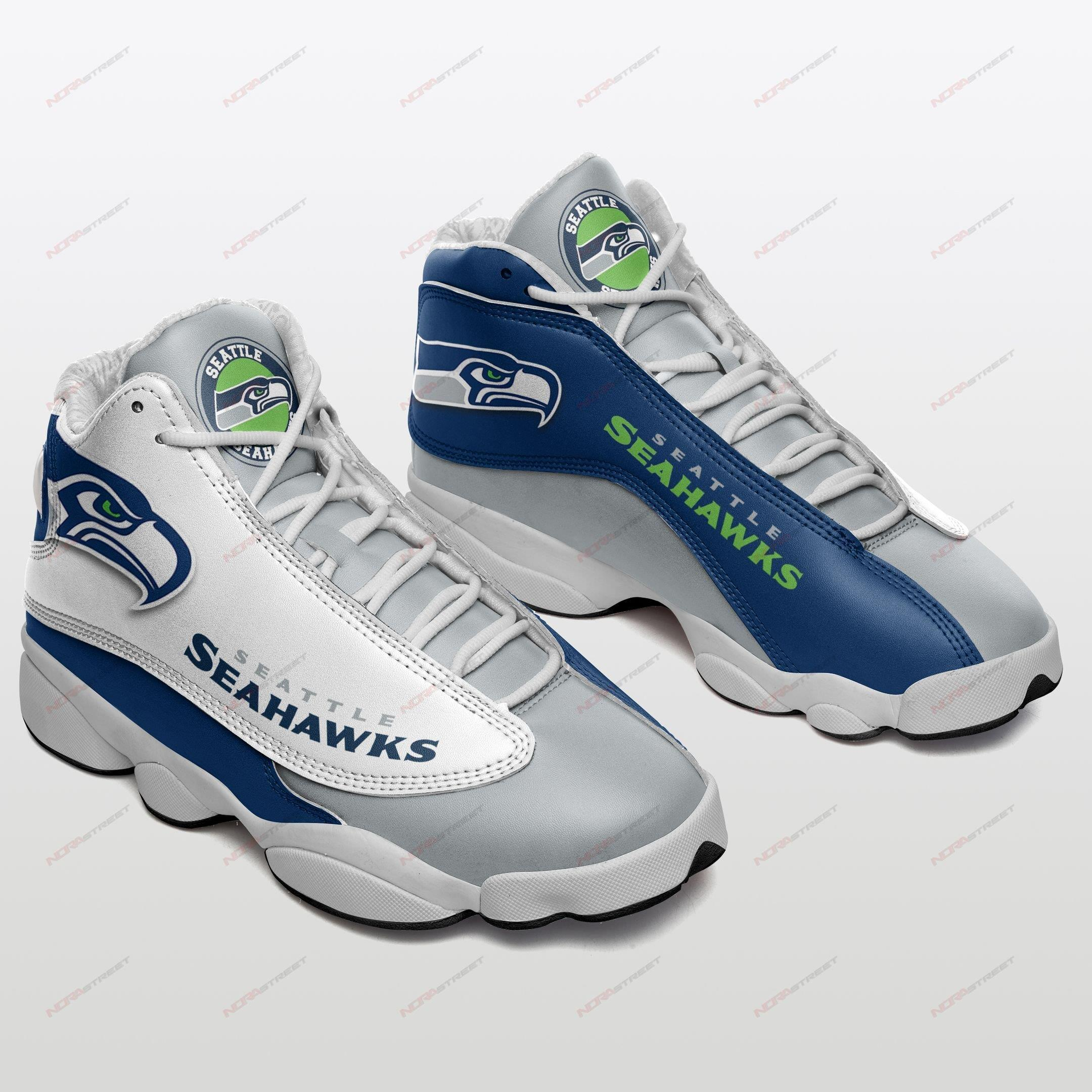 Seattle Seahawks Air Jordan 13 Sneakers Sport Shoes Plus Size
