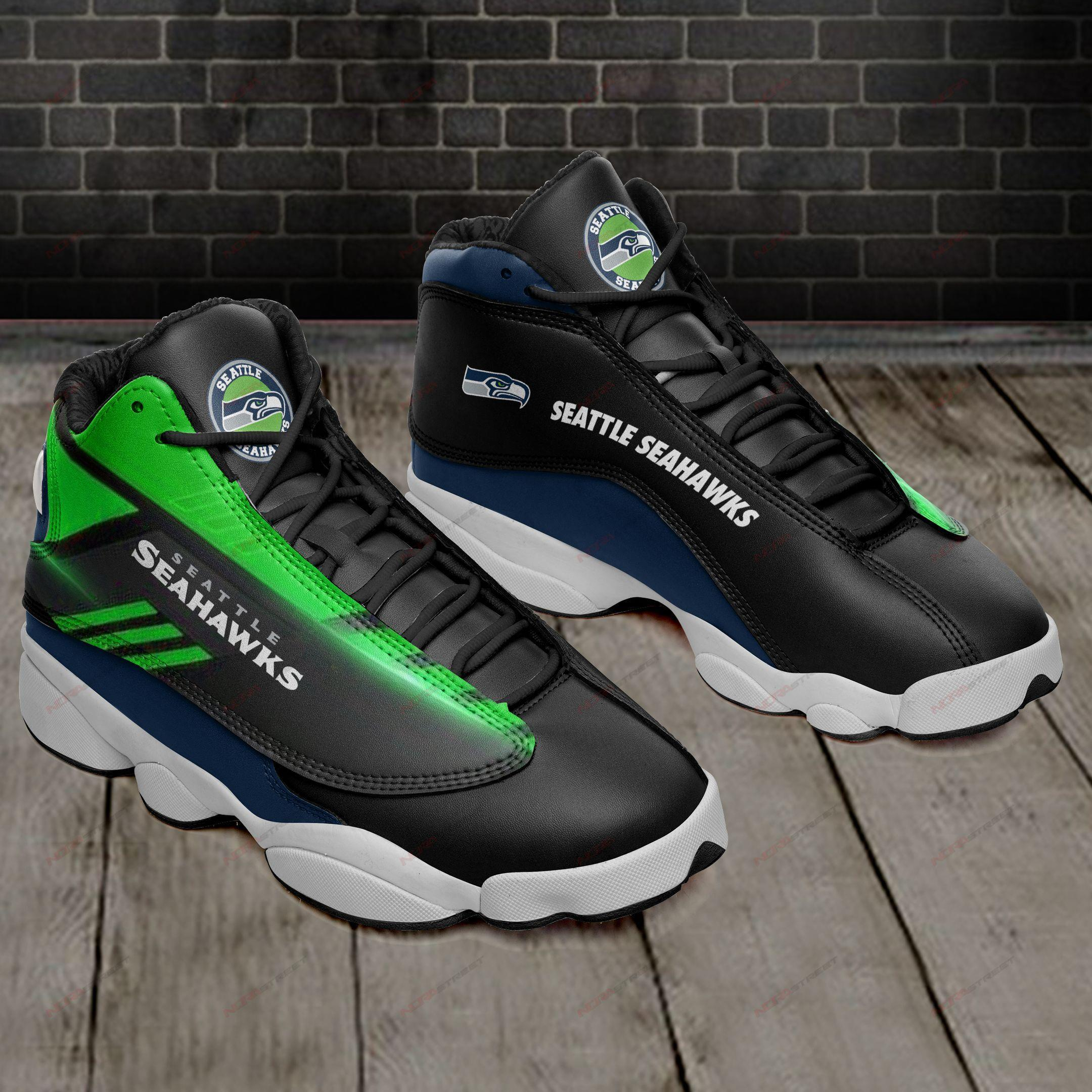 Seattle Seahawks Air Jordan 13 Sneakers Sport Shoes