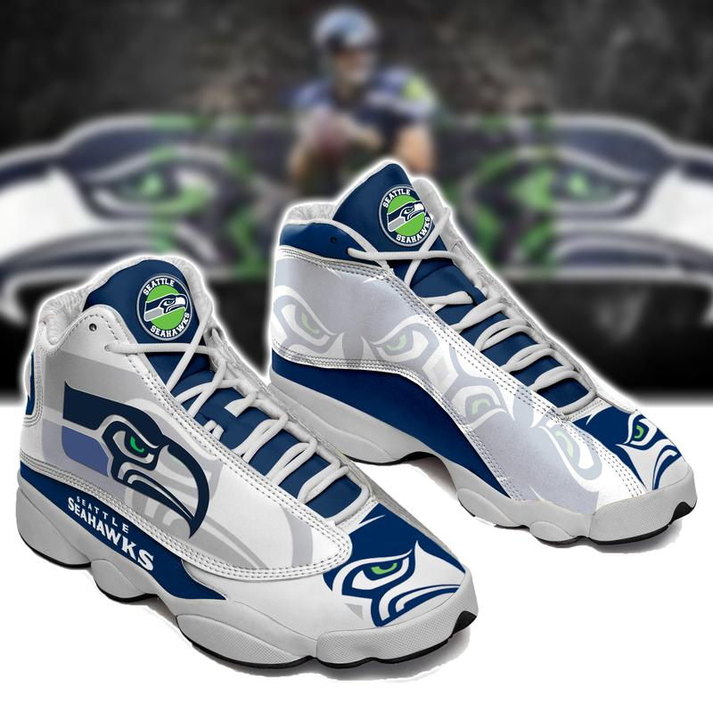 Seattle Seahawks Football Form Air Jordan 13 Sneakers Sport Shoes Full Size