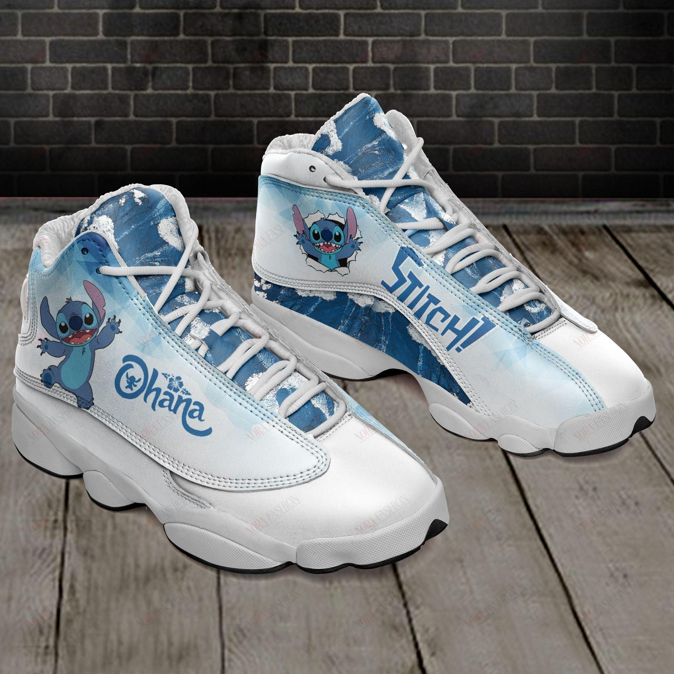 Stitch Ohana Air Jordan 13 Sneakers Sport Shoes