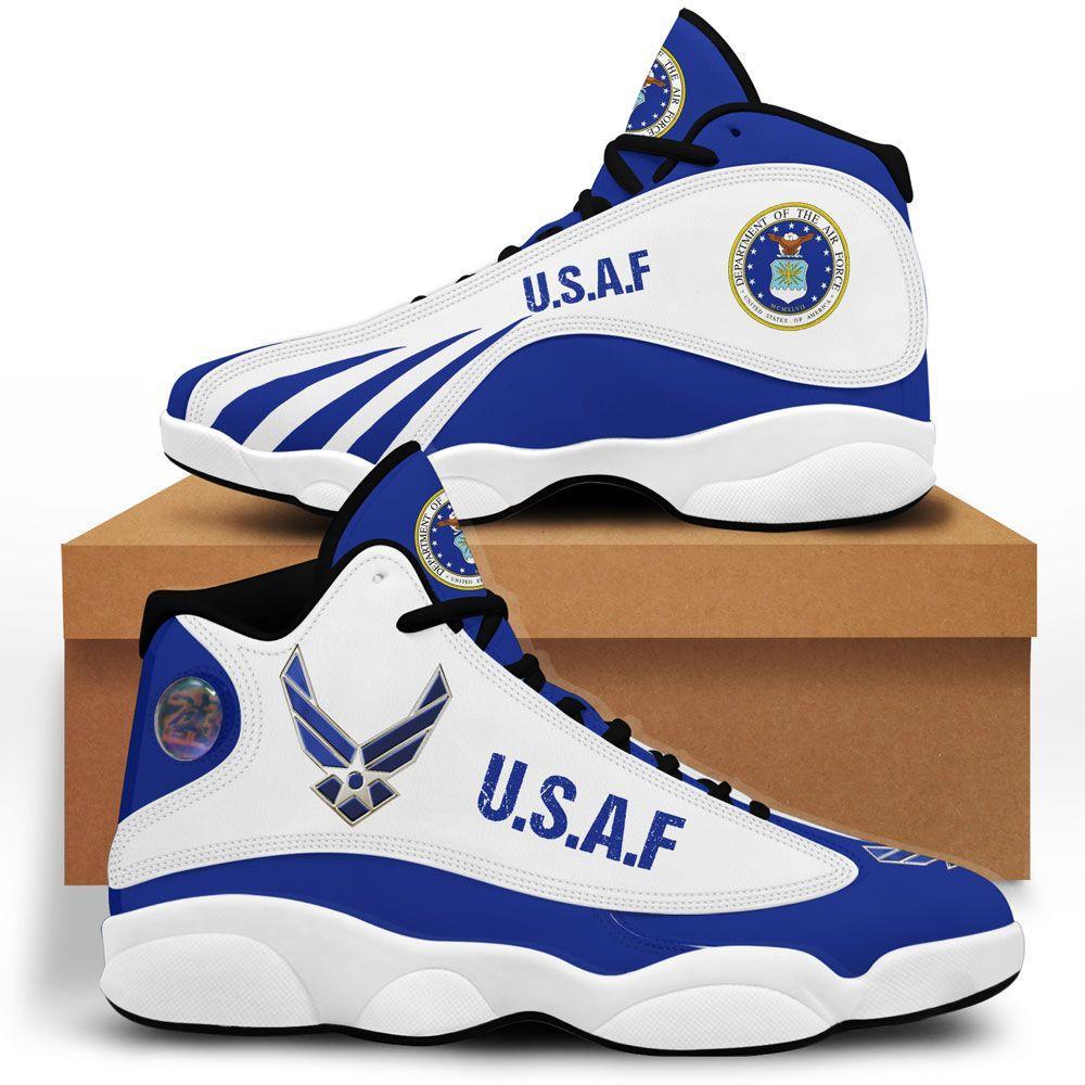 Us Air Force Air Jordan 13 Custom Sneakers Shoes Sport V2 Full Size