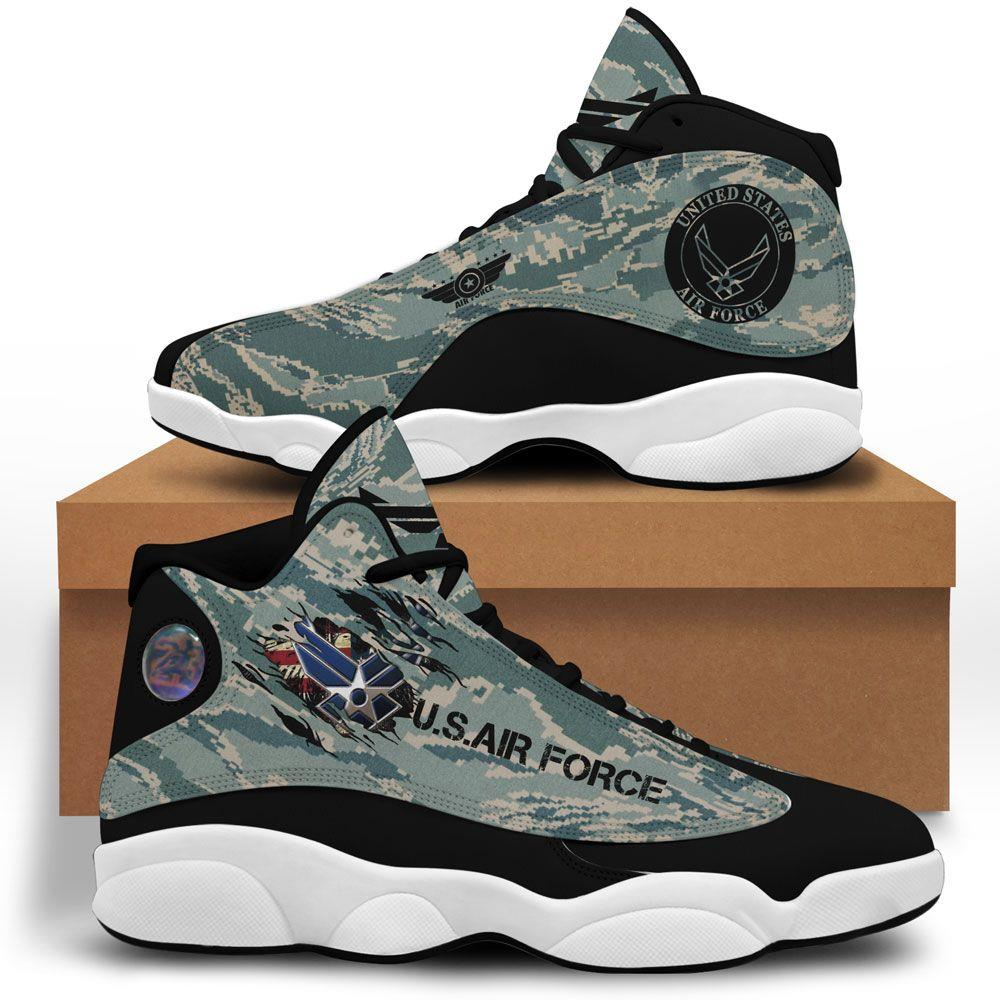 Us Air Force Air Jordan 13 Custom Sneakers Sport Running