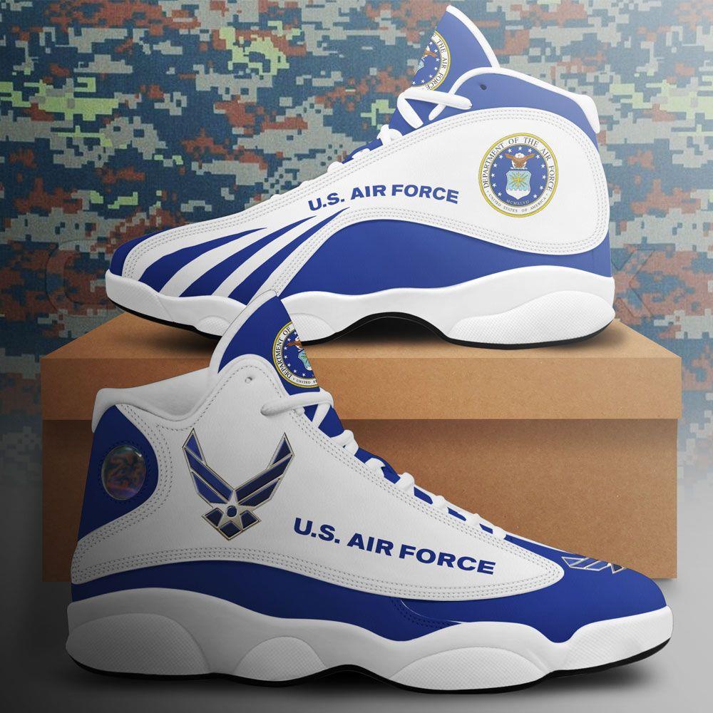 Us Air Force Air Jordan 13 Custom Sneakers Sport Shoes