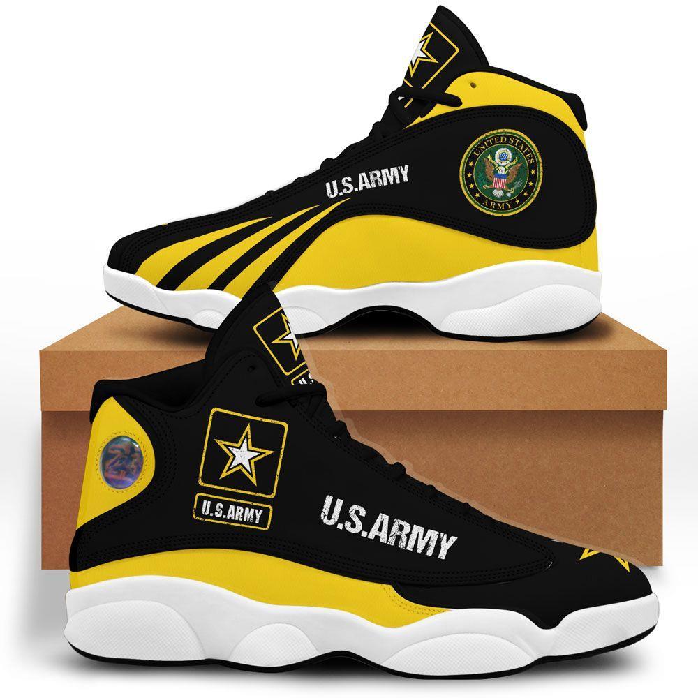 Us Army Air Jordan 13 Custom Sneakers Running Shoes Full Size