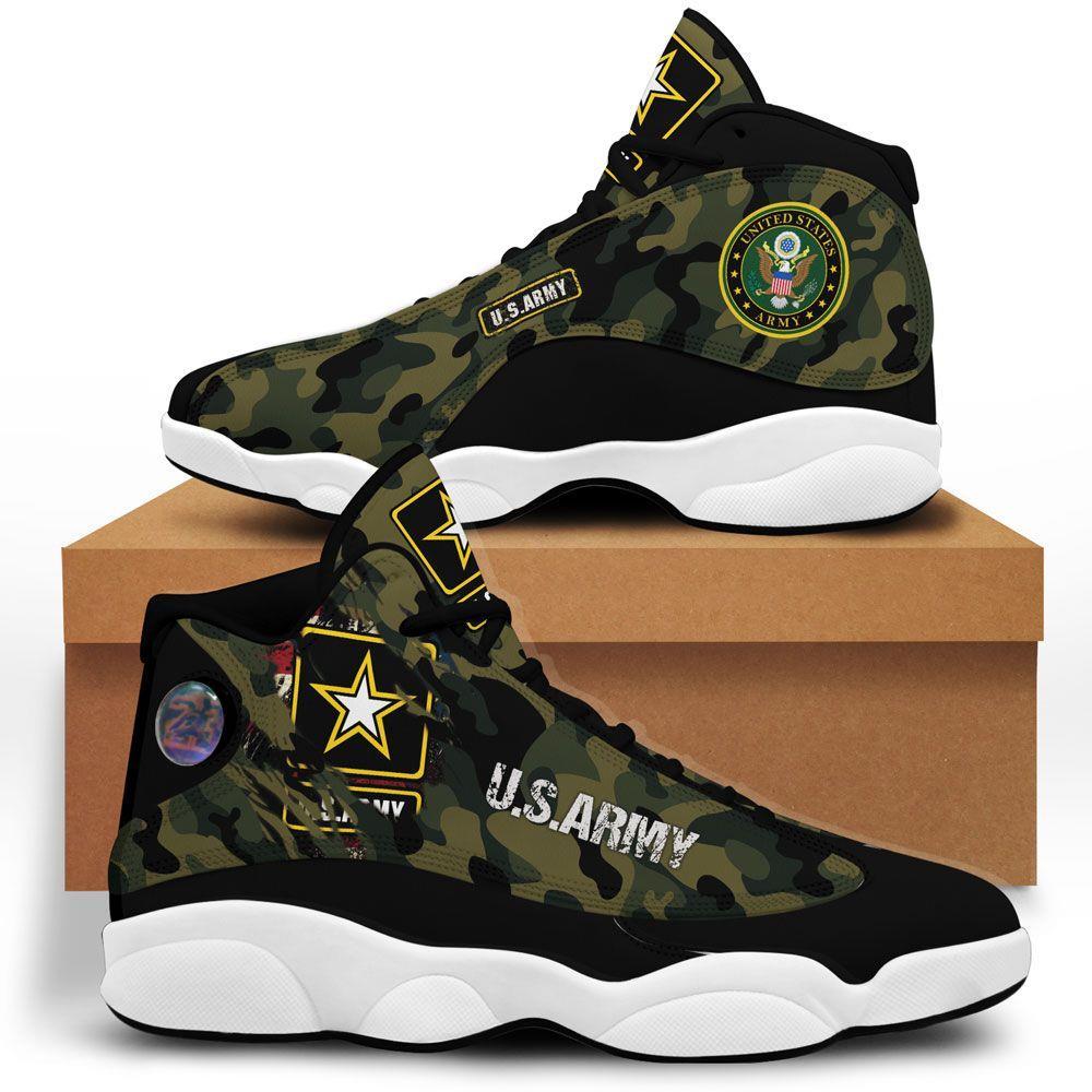 Us Army Air Jordan 13 Custom Sneakers Running Sport Full Size