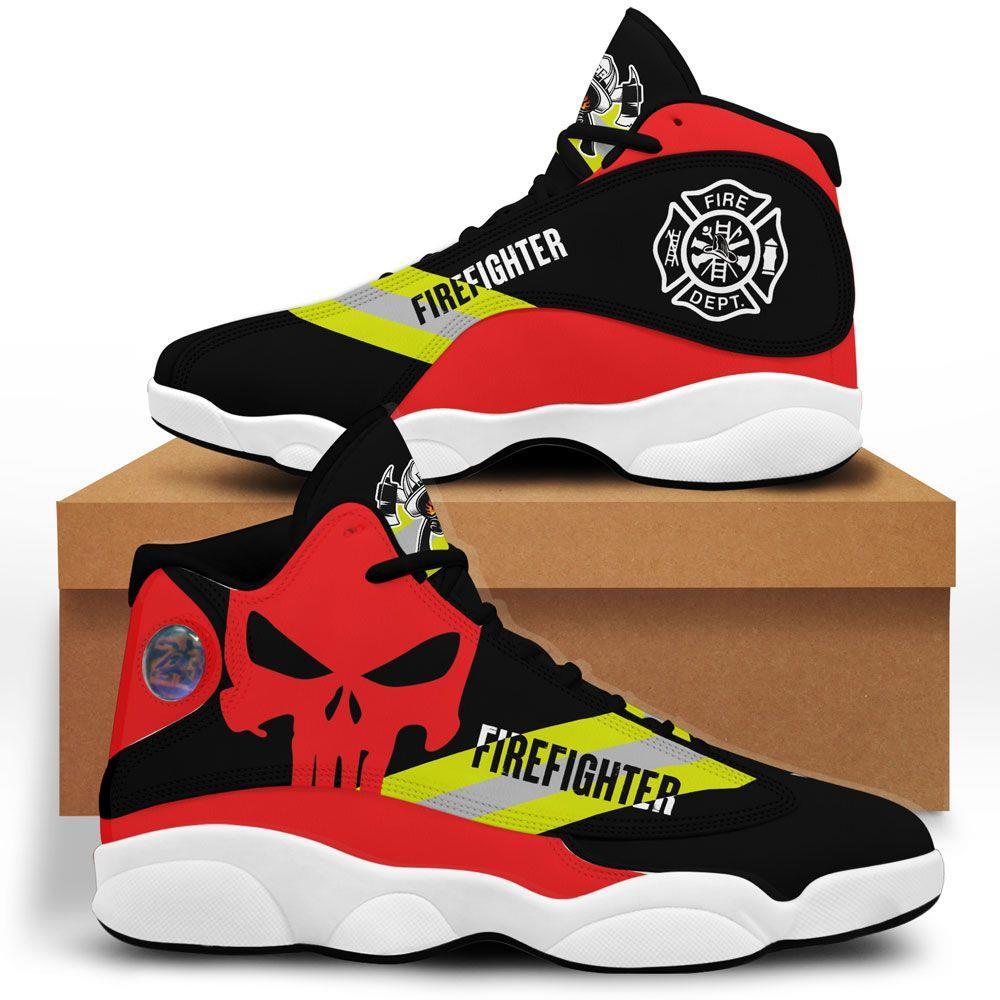 Us Firefighter Air Jordan 13 Custom Sneakers Shoes Sport