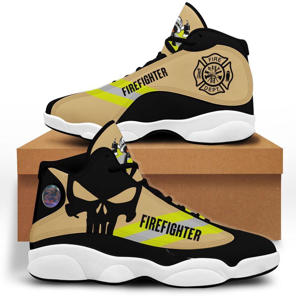 Us Firefighter Air Jordan 13 Custom Sneakers Sport Shoes