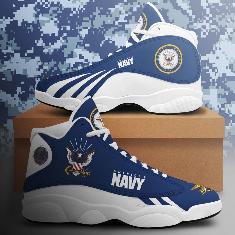 Us Navy Air Jordan 13 Custom Sneakers Shoes Sport Plus Size