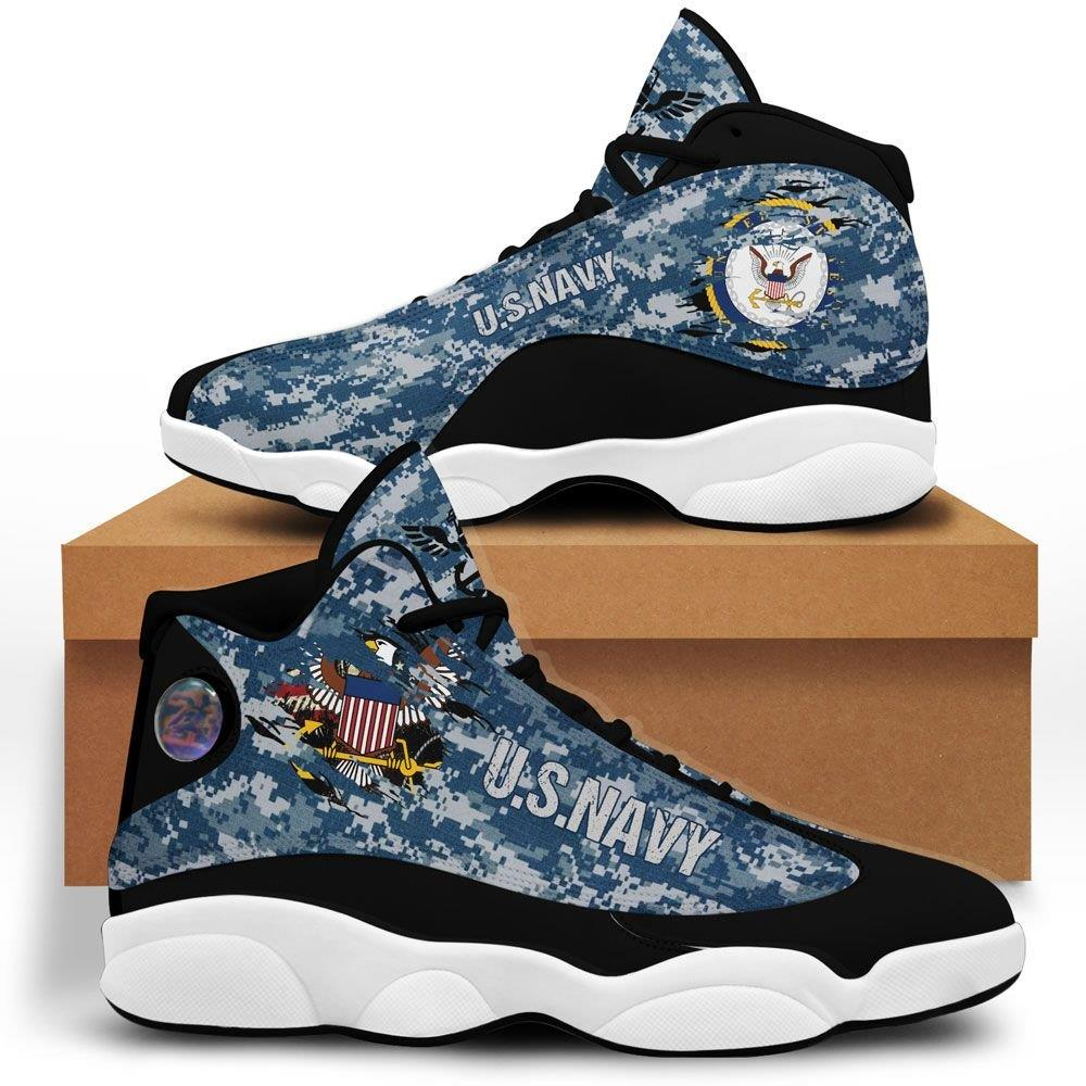 Us Navy Air Jordan 13 Custom Sneakers Sport Running Plus Size