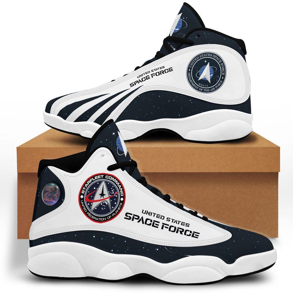 Us Space Force Air Jordan 13 Custom Sneakers Sport Shoes Plus Size