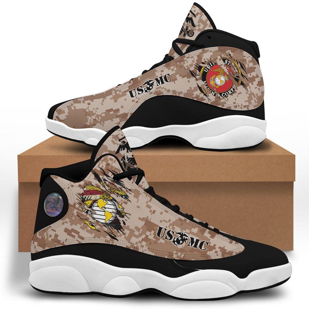 Usmc Air Jordan 13 Custom Sneakers Shoes Sport Plus Size