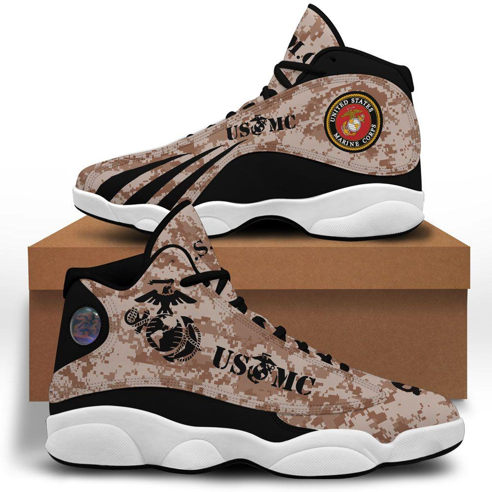 Usmc Air Jordan 13 Custom Sneakers Sport Shoes Plus Size