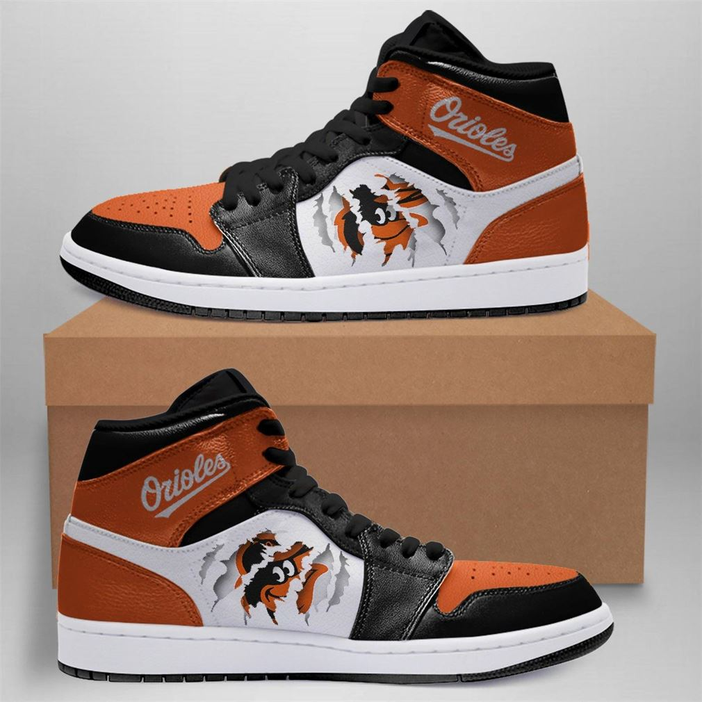 Baltimore Orioles Mlb Air Jordan Basketball Shoes Sport V2 Sneaker Boots Shoes