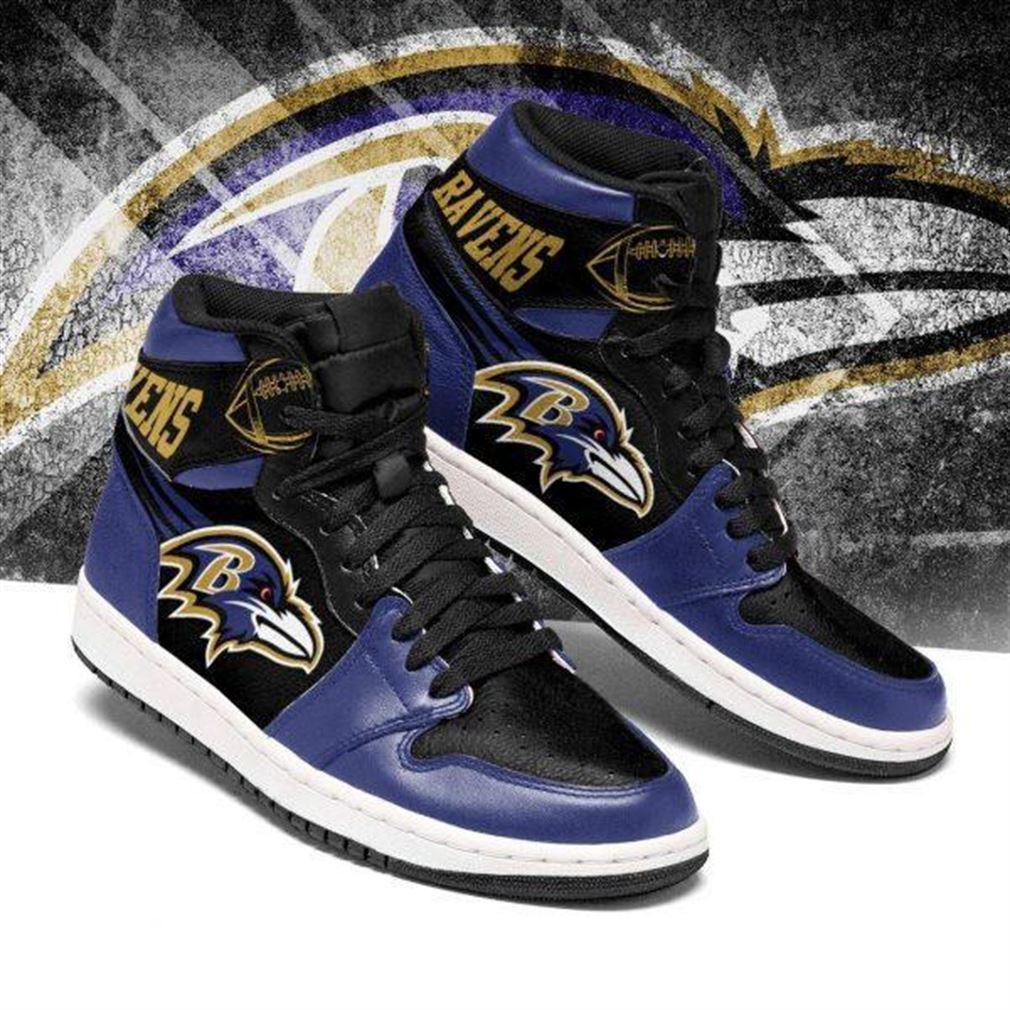 Baltimore Ravens Nfl Football Air Jordan Shoes Sport V2 Sneaker Boots Shoes