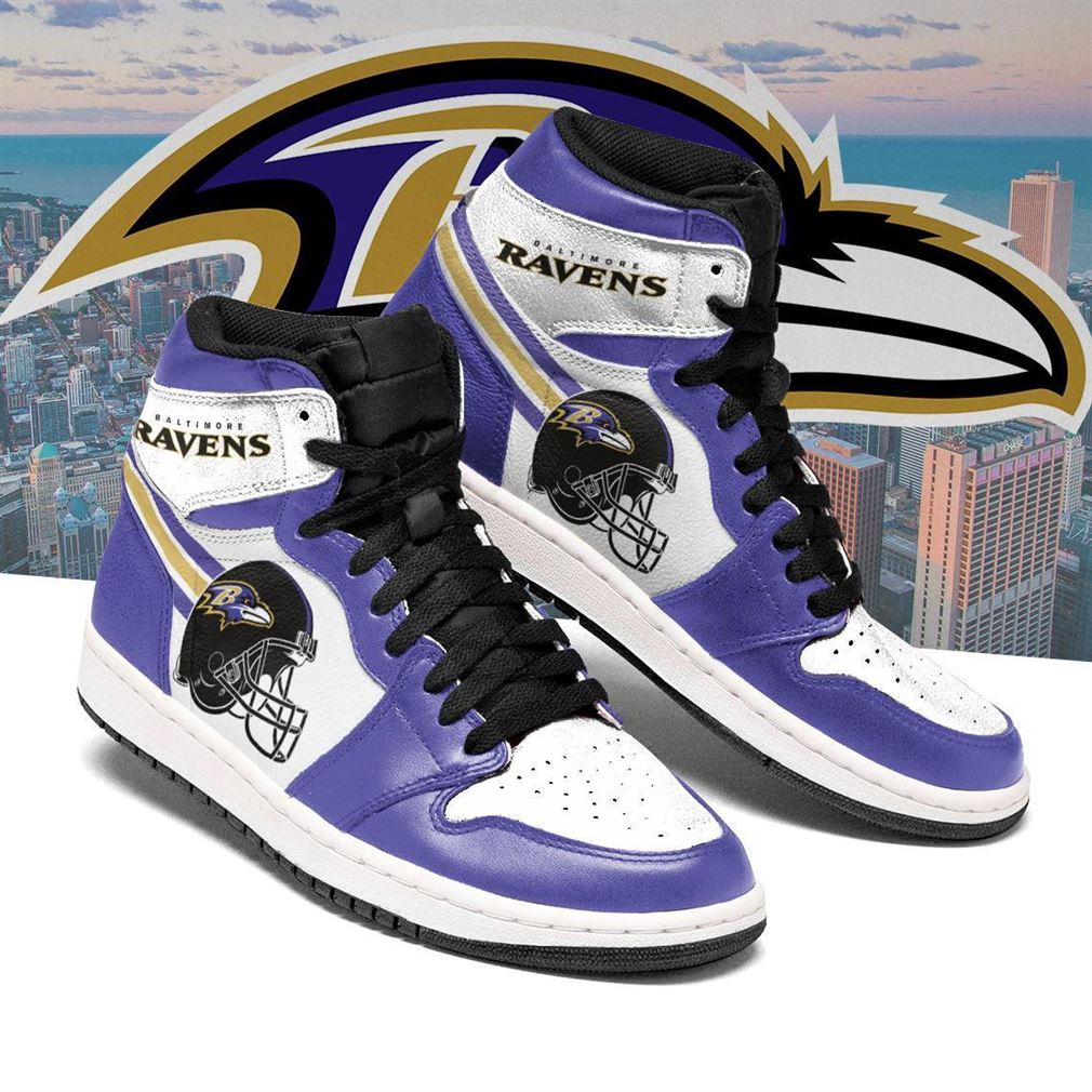 Baltimore Ravens Nfl Football Air Jordan Shoes Sport V3 Sneaker Boots Shoes
