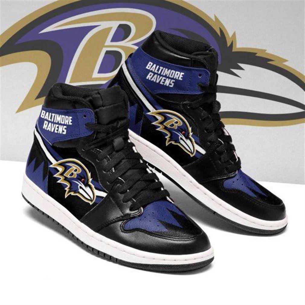 Baltimore Ravens Nfl Football Air Jordan Shoes Sport V7 Sneaker Boots Shoes