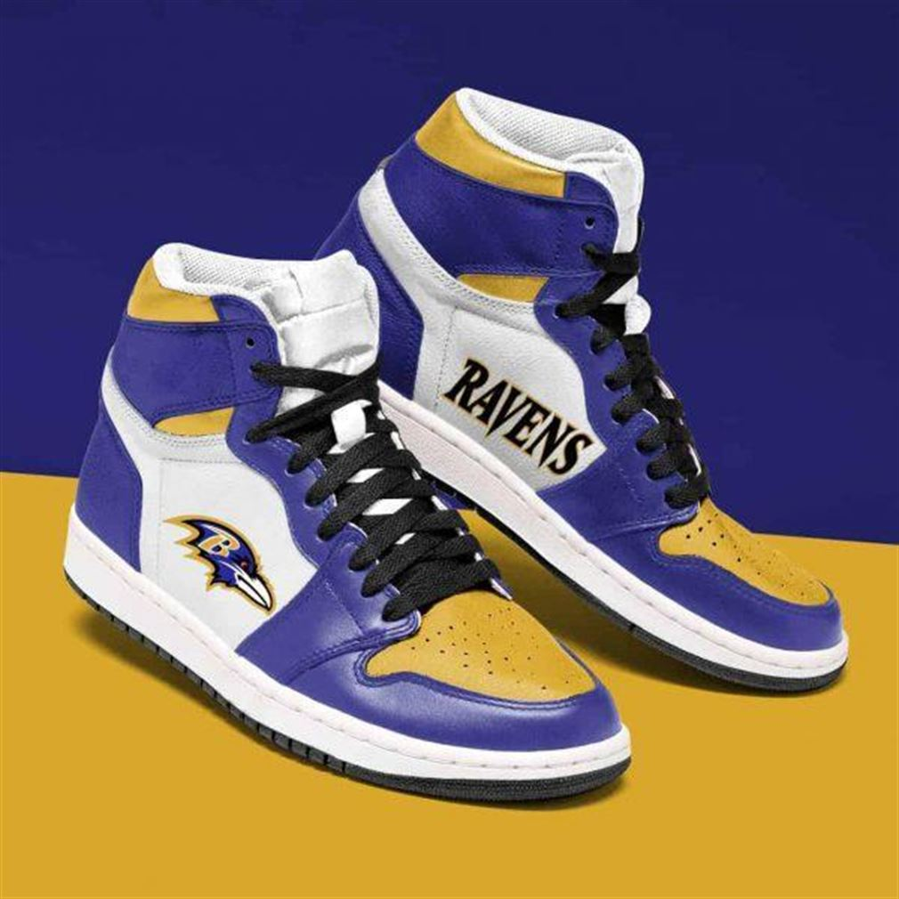 Baltimore Ravens Nfl Football Air Jordan Shoes Sport Sneaker Boots Shoes