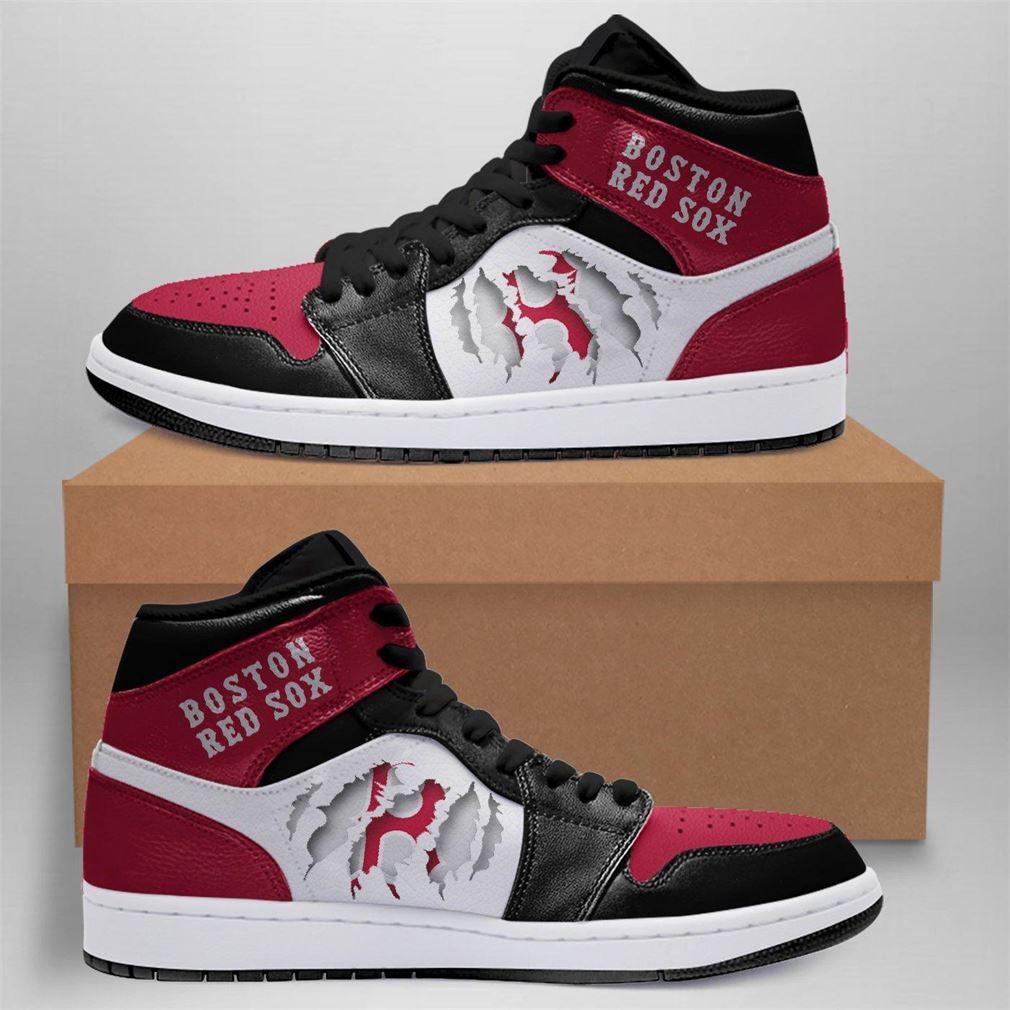 Boston Red Sox Mlb Air Jordan Basketball Shoes Sport V2 Sneaker Boots Shoes