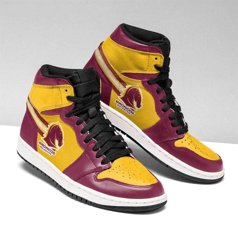 Brisbane Broncos Nrl Air Jordan Shoes Sport V2 Sneaker Boots Shoes