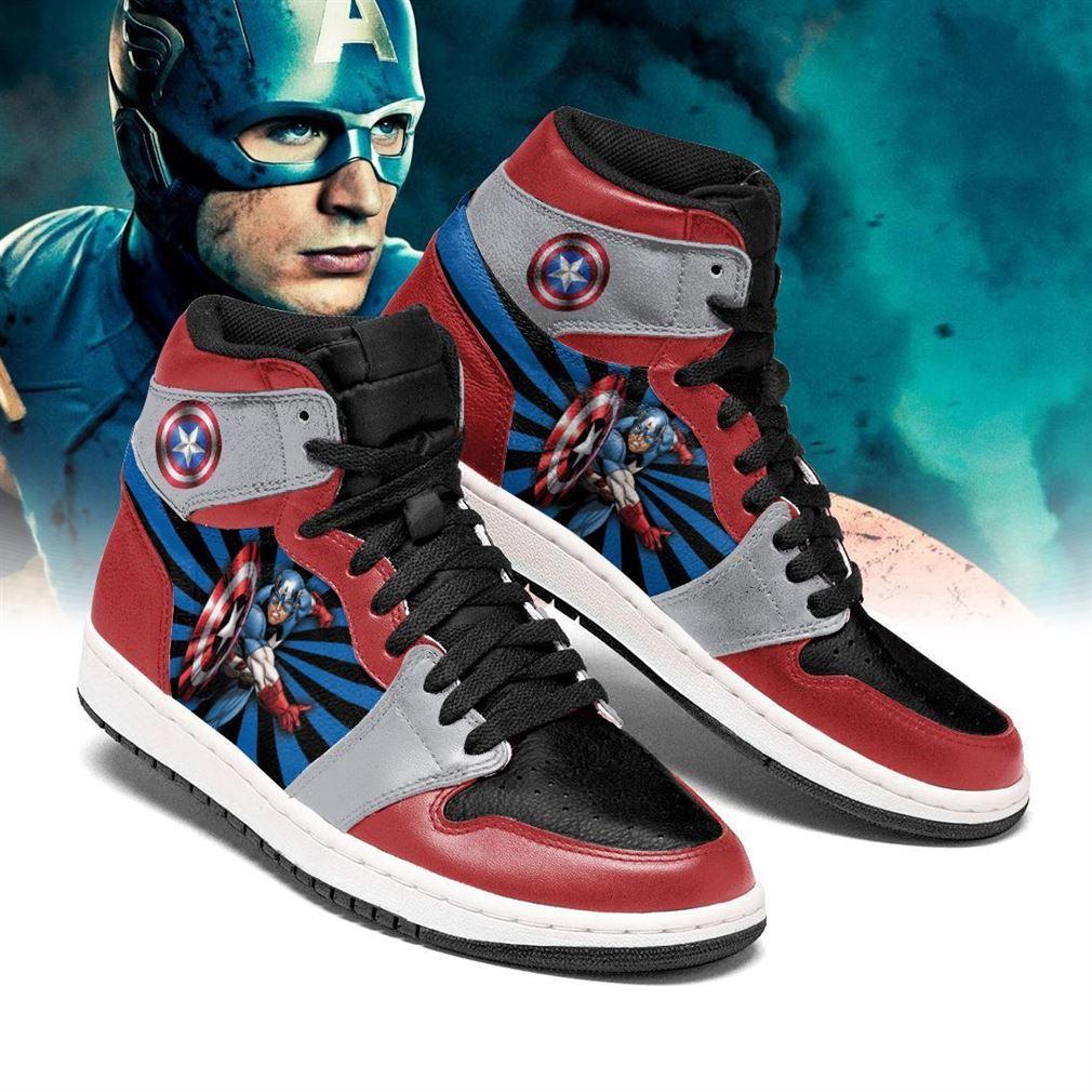 Captain America Marvel Air Jordan Shoes Sport V2 Sneaker Boots Shoes