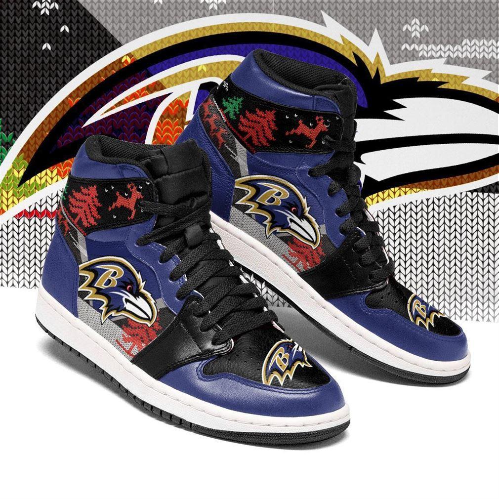 Christmas Baltimore Ravens Nfl Air Jordan Shoes Sport Sneaker Boots Shoes