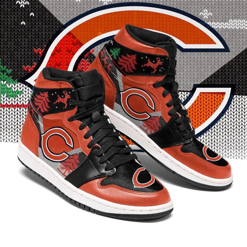 Christmas Chicago Bears Nfl Air Jordan Shoes Sport Sneaker Boots Shoes