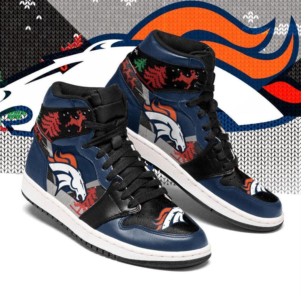 Christmas Denver Broncos Nfl Air Jordan Shoes Sport Sneaker Boots Shoes