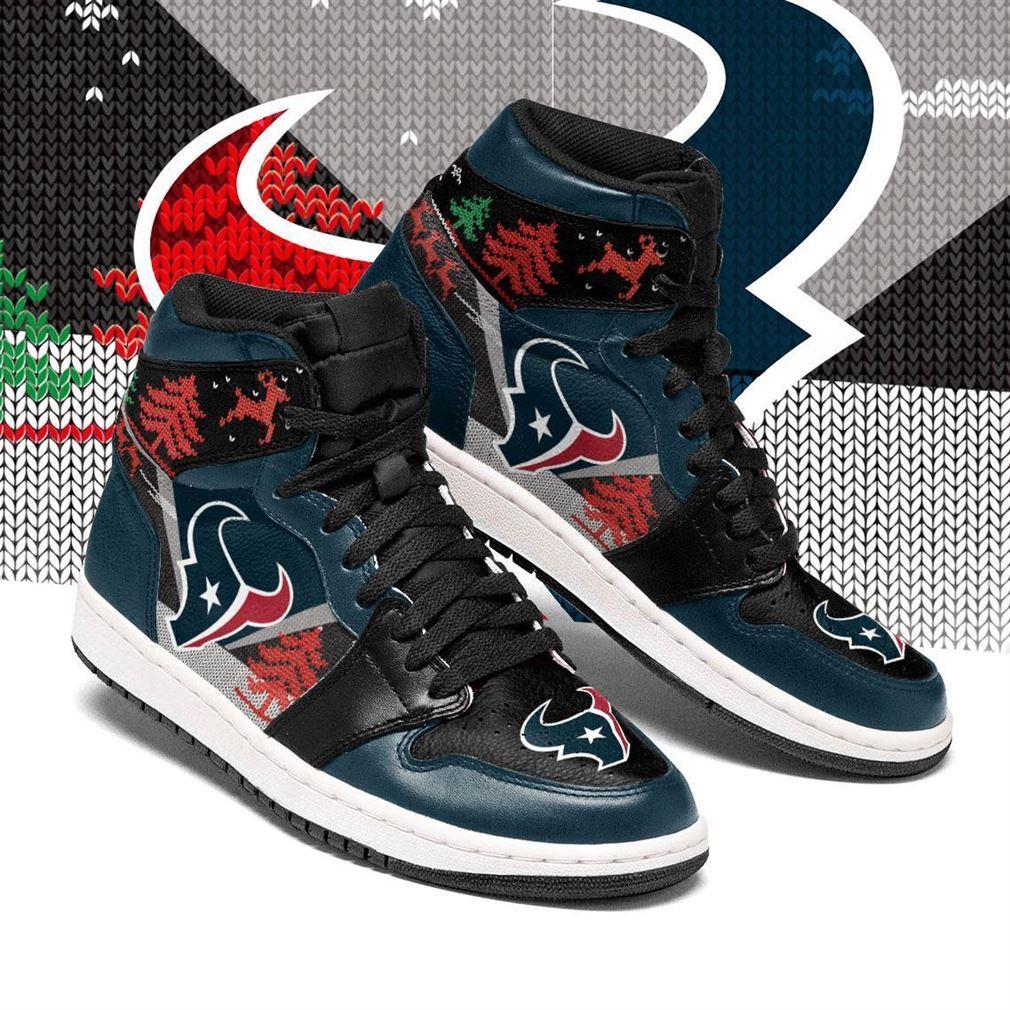 Christmas Houston Texans Nfl Air Jordan Shoes Sport Sneaker Boots Shoes