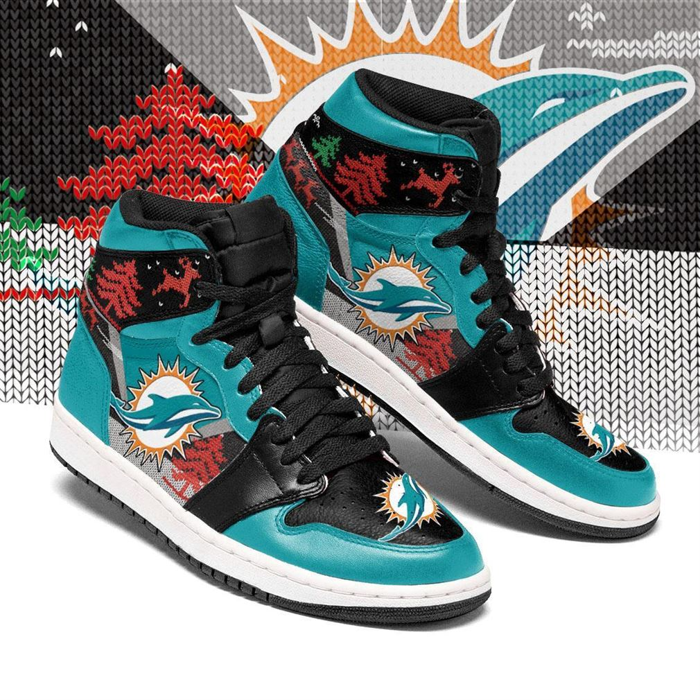 Christmas Miami Dolphins Nfl Air Jordan Shoes Sport Sneaker Boots Shoes