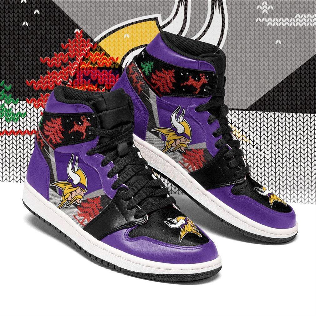 Christmas Minnesota Vikings Nfl Air Jordan Shoes Sport Sneaker Boots Shoes