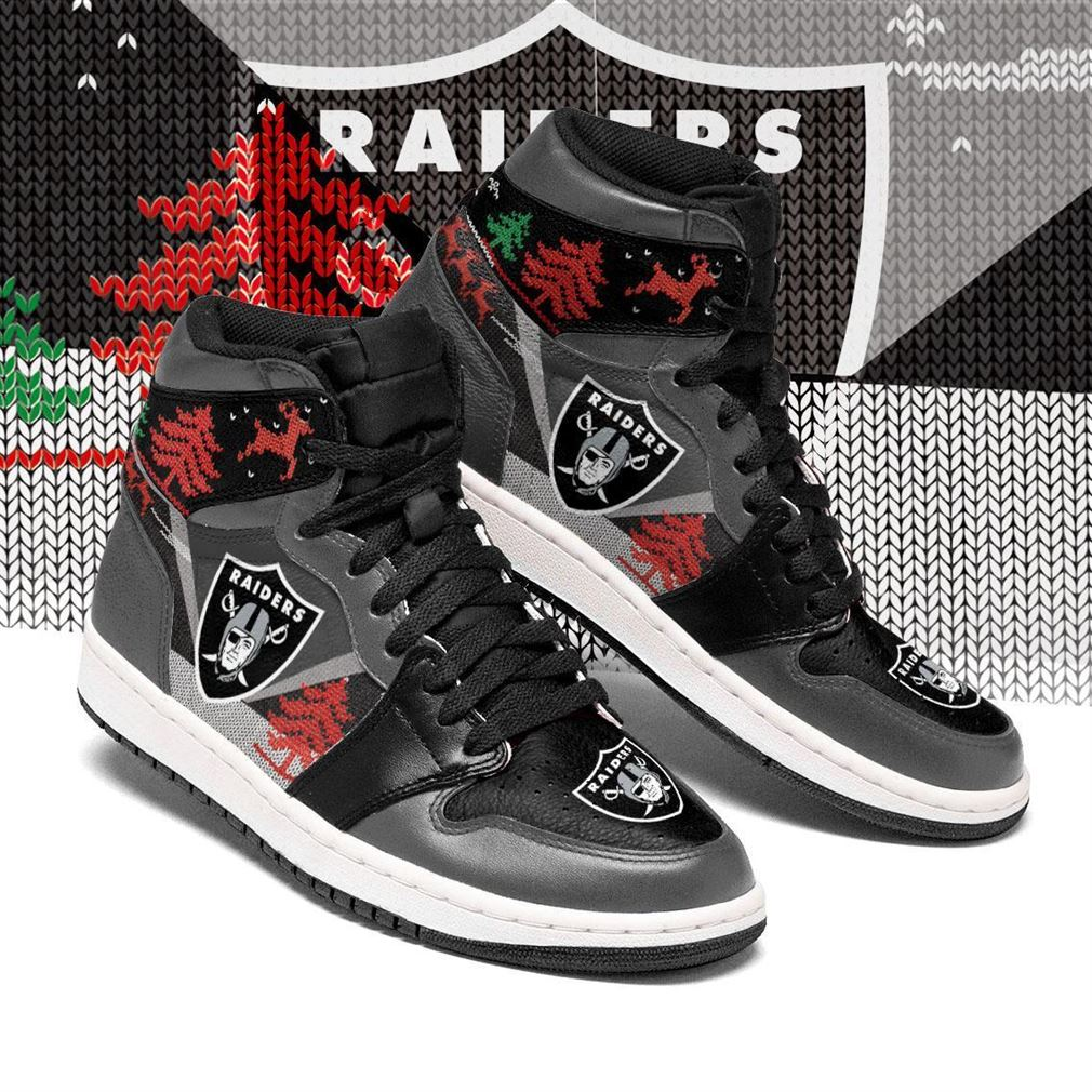 Christmas Oakland Raiders Nfl Air Jordan Shoes Sport Sneaker Boots Shoes
