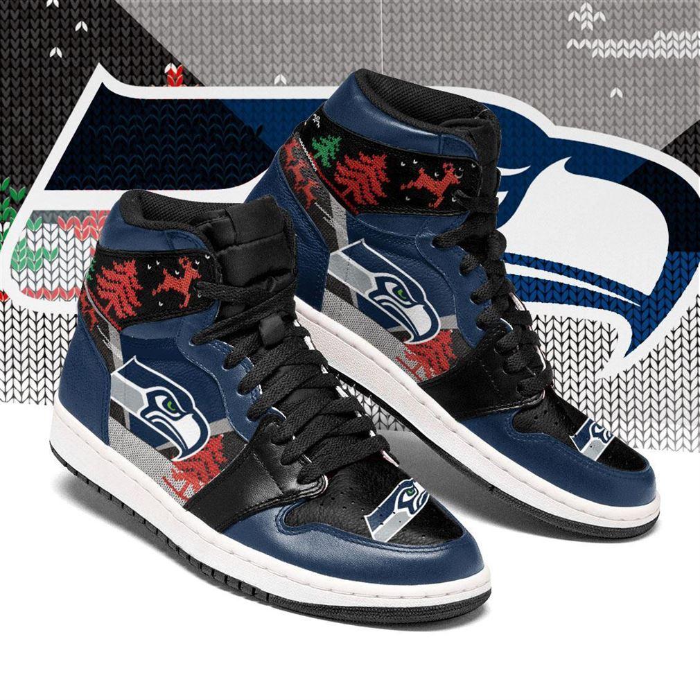 Christmas Seattle Seahawks Nfl Air Jordan Shoes Sport Sneaker Boots Shoes