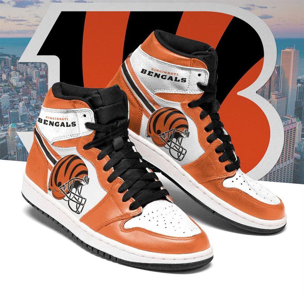 Cincinnati Bengals Nfl Football Air Jordan Shoes Sport V4 Sneaker Boots Shoes